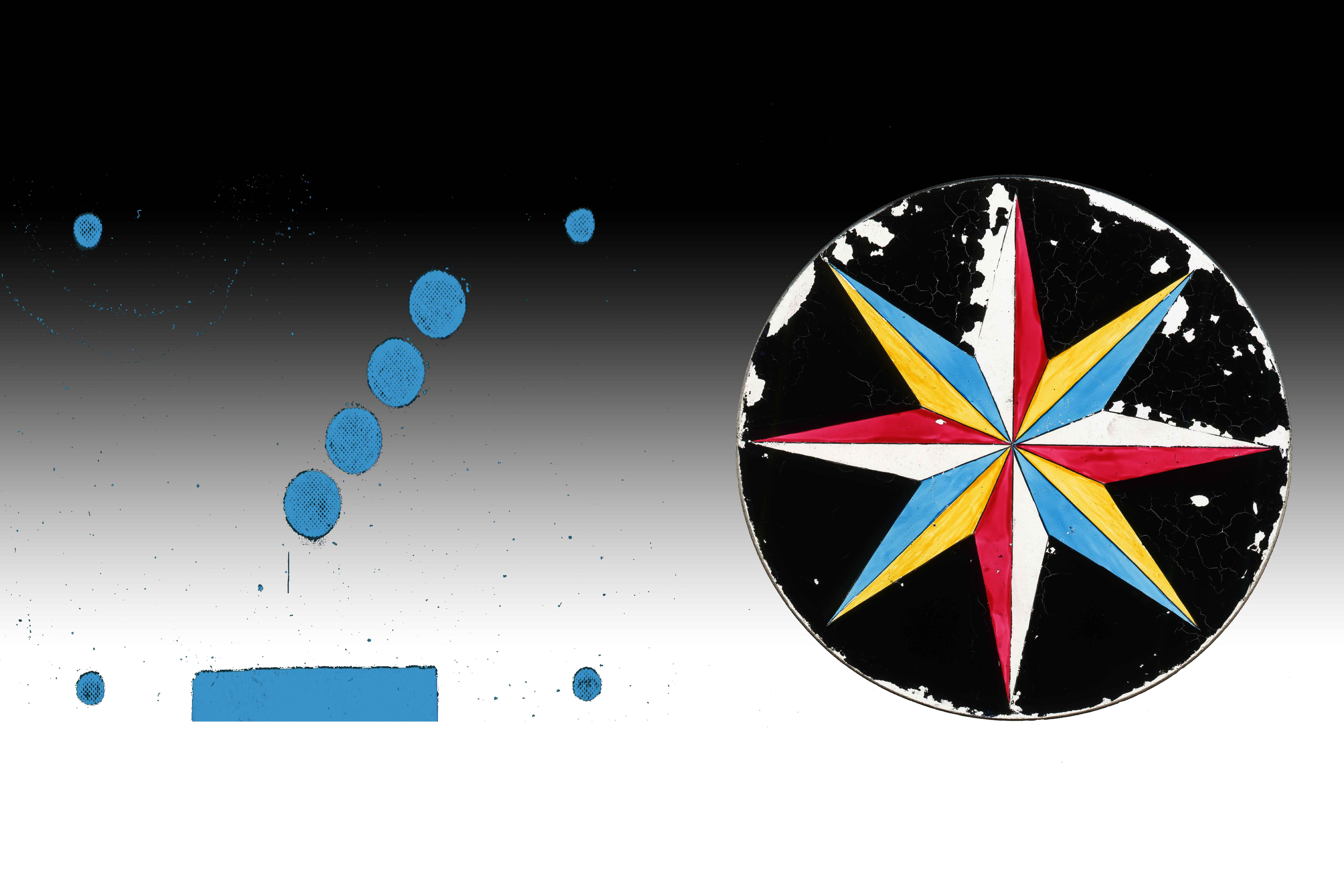 Simple Shapes -Blue Dots